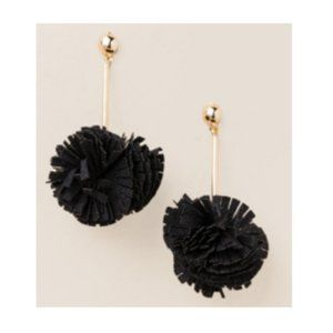 Francesca's Edwina linear poof drop earrings